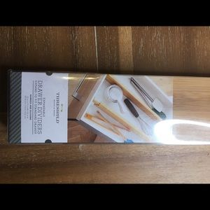 NWT 4 expandable wooden drawer dividers